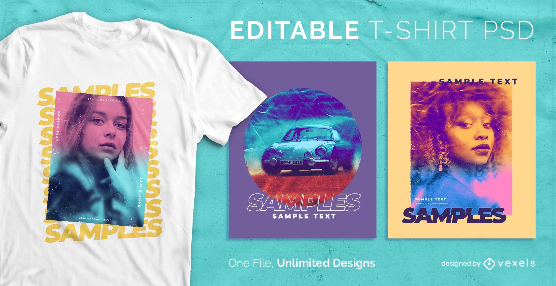 Farbverlauf T-Shirt Design psd