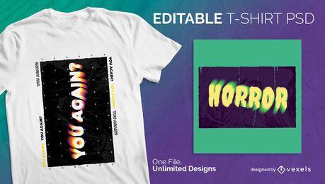 Plasma skalierbares T-Shirt psd