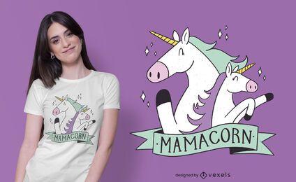 Diseño de camiseta mamá unicornio