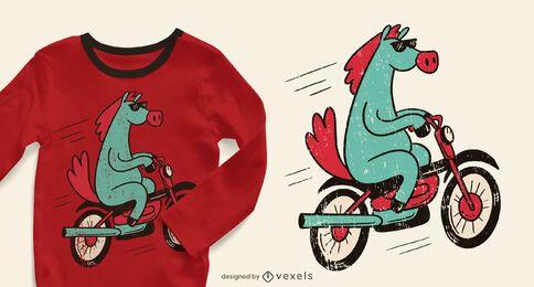 Diseño de camiseta de bicicleta de caballo.