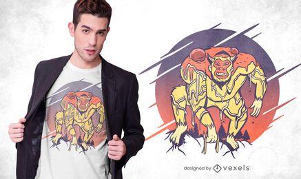 Diseño de camiseta yeti spaghetti
