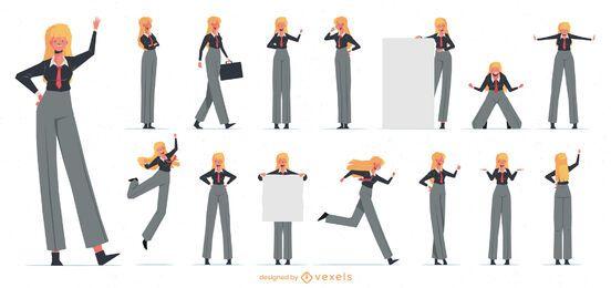 Coleção de personagens de mulheres de negócios
