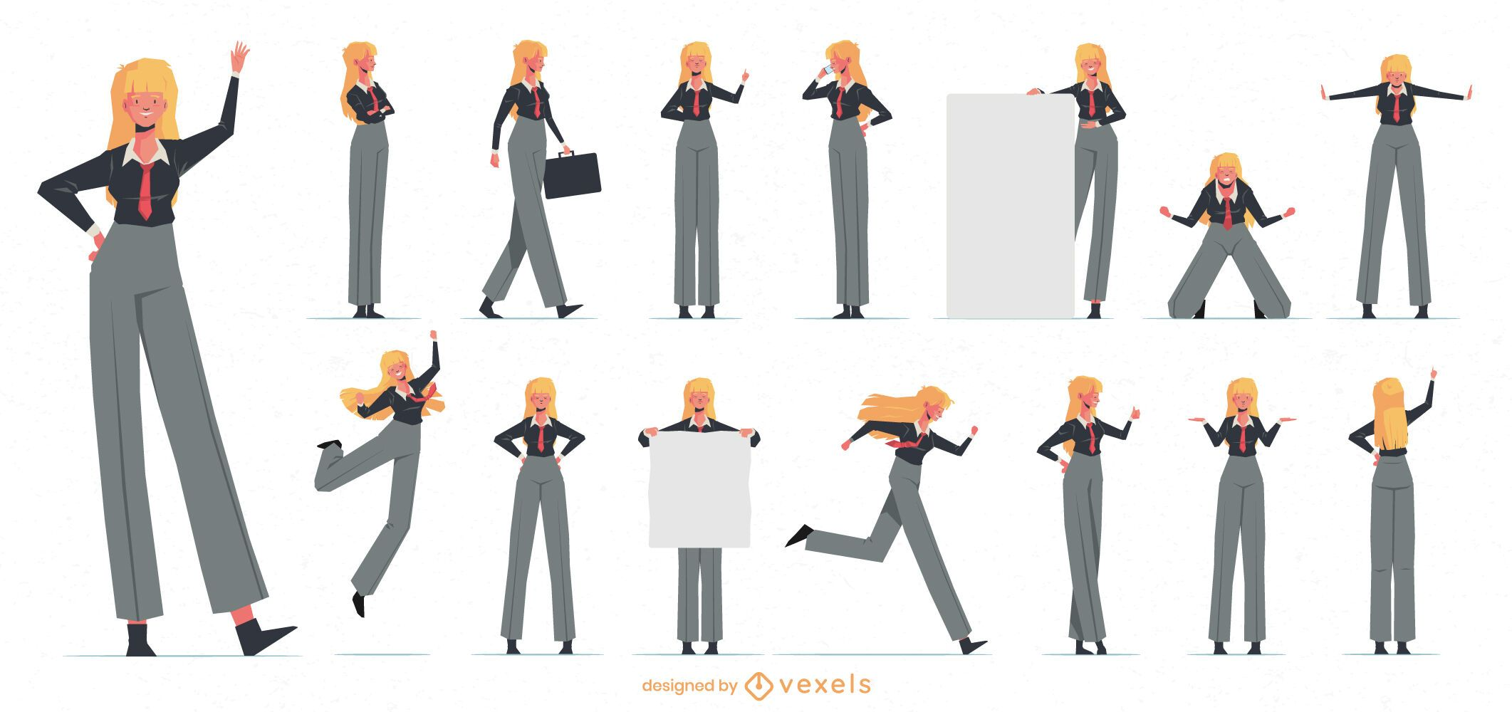 Business woman character collection