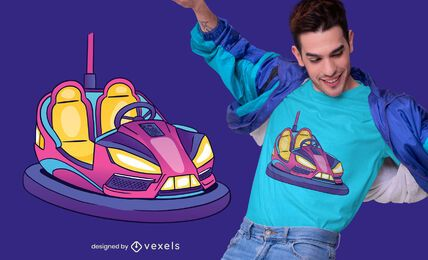 Bumper car t-shirt design