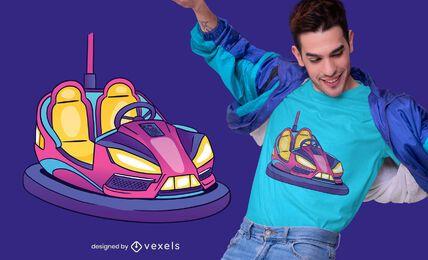 Diseño de camiseta de coche de choque
