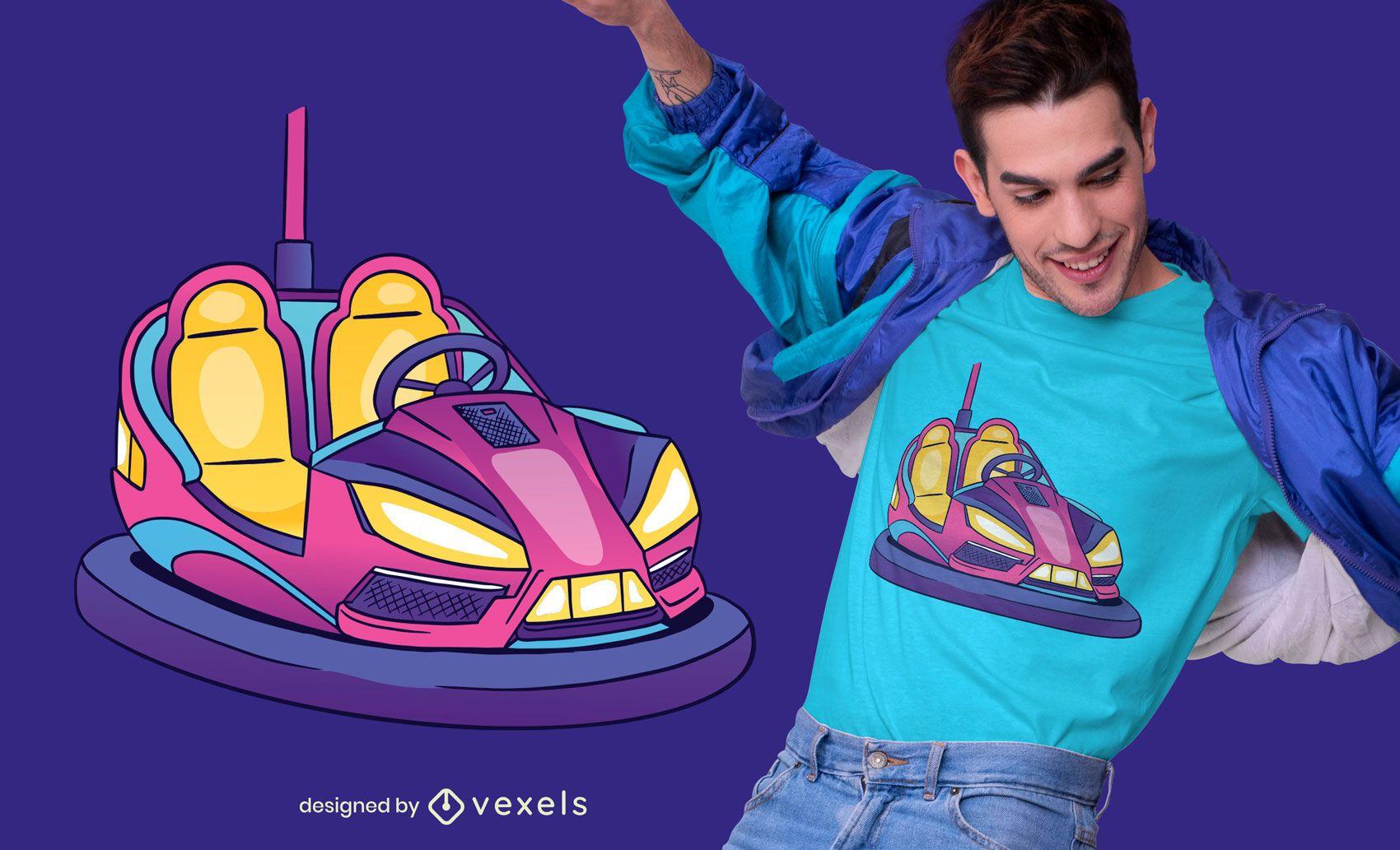 Bumper car t-shirt design