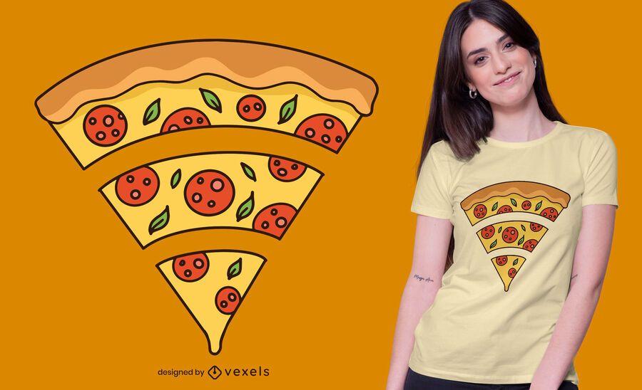 Design de t-shirt de pizza Wifi