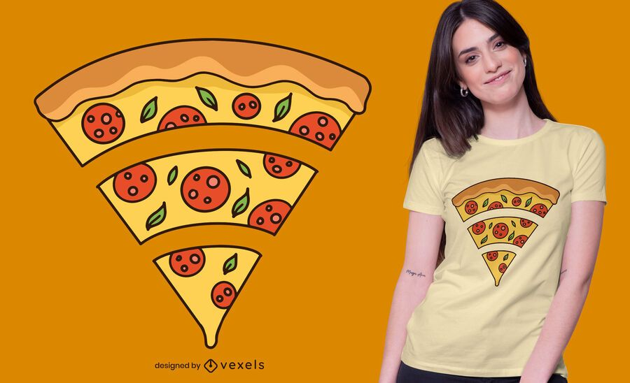 Diseño de camiseta wifi pizza