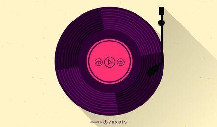 Conjunto de vector libre de música vintage