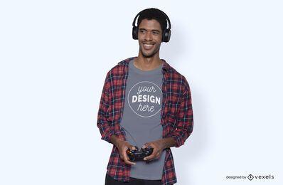 Maqueta de camiseta de modelo de jugador