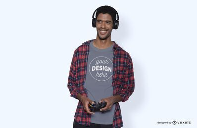 Maquete de camiseta do modelo de jogador