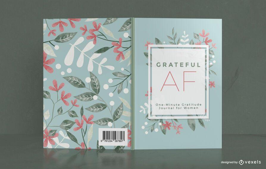 Design da capa do livro do Flower Gratitude Journal