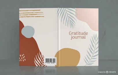 Minimal Plant Gratitude Journal Cover Design