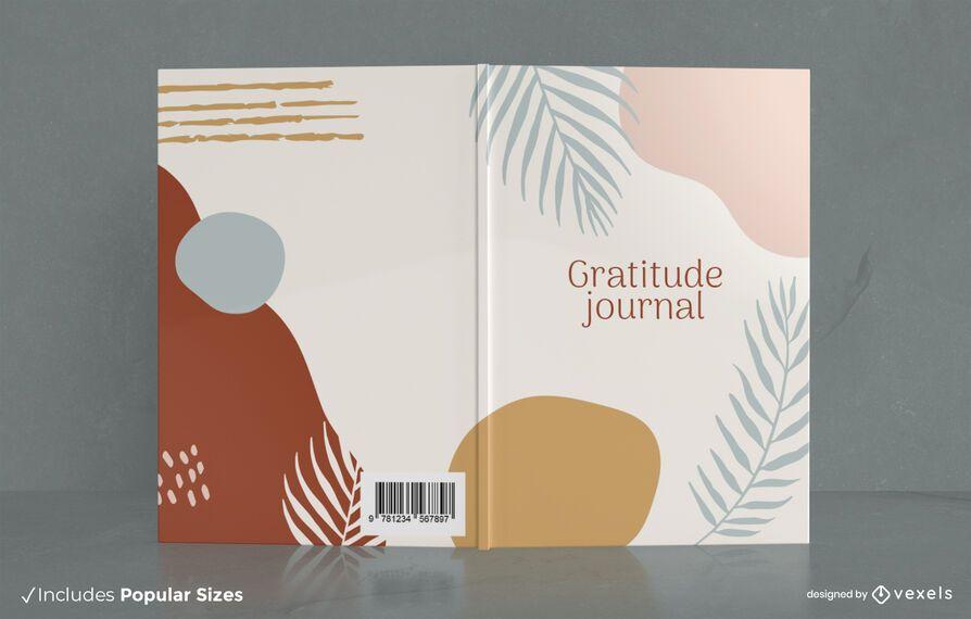 Diseño de portada de diario de gratitud de planta mínima