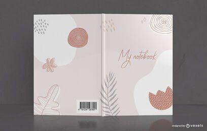 Diseño de portada de cuaderno de dibujo mínimo