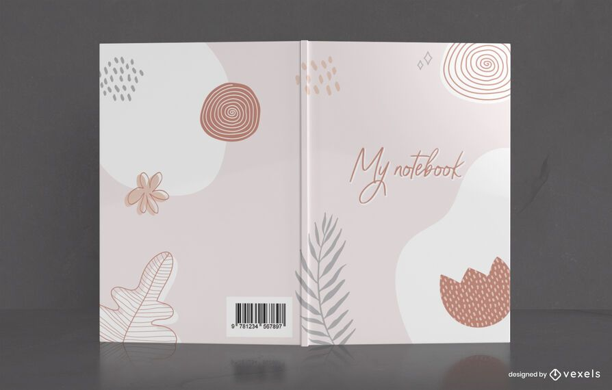 Minimal Drawing Notebook Cover Design