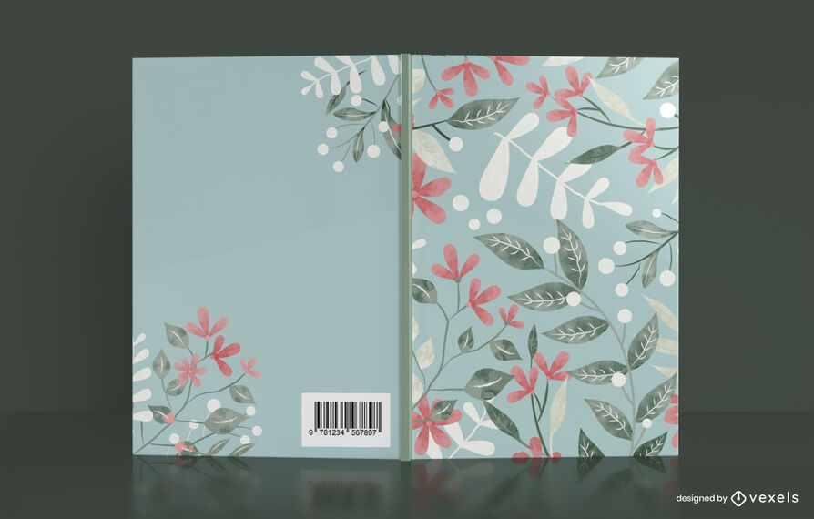Artistic Floral Book Cover Design