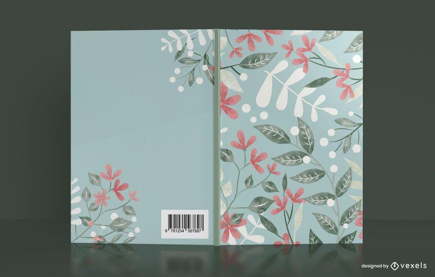 Diseño de portada de libro floral artístico
