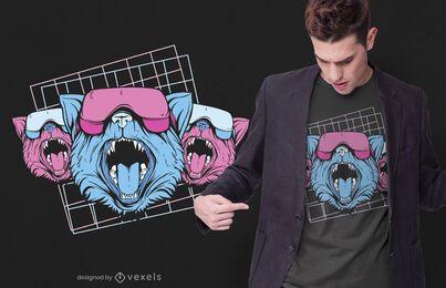 Design de camisetas para gatos Vaporwave