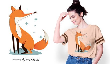 Sparkly fox t-shirt design