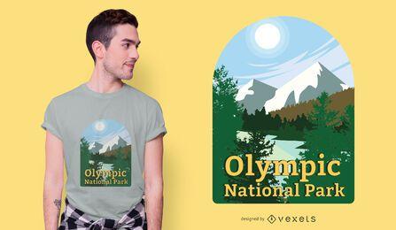 Diseño de camiseta del parque nacional olímpico.