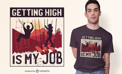 Getting high t-shirt design