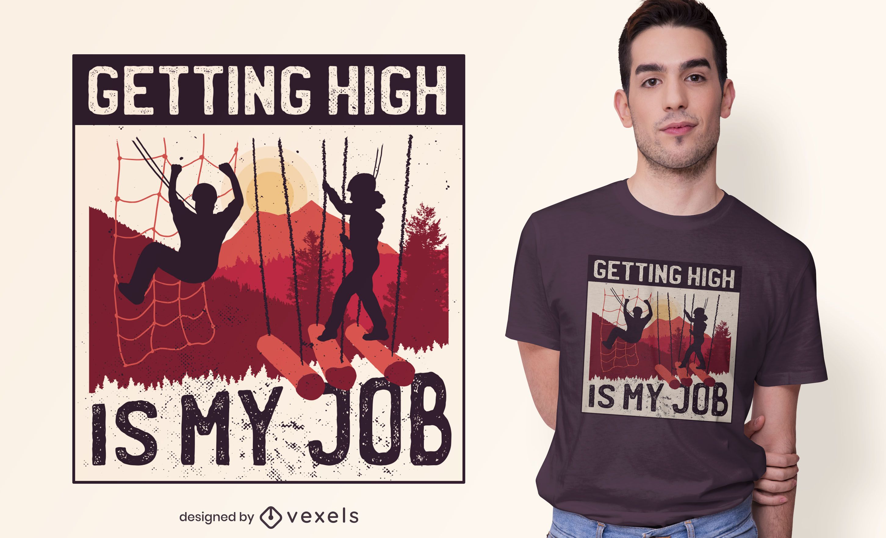 Getting high t-shirt design
