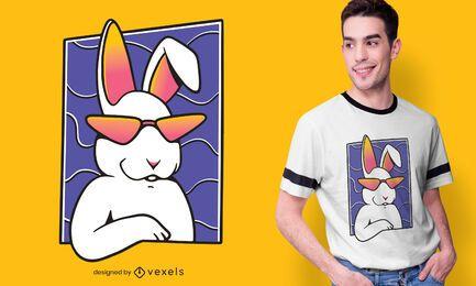 Diseño de camiseta de conejo fresco