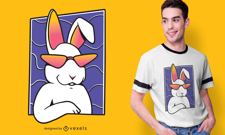 Dise?o de camiseta de conejo fresco