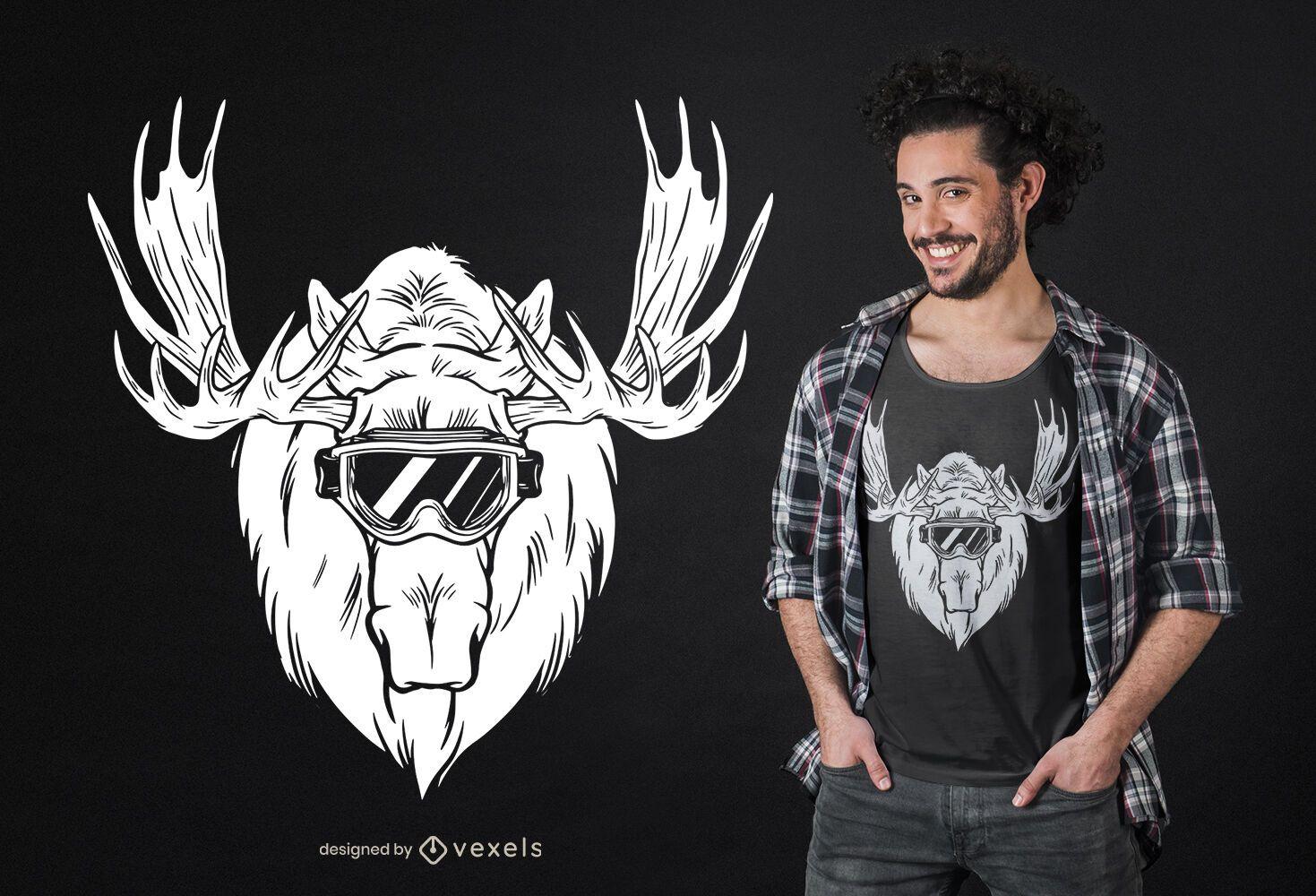 Moose head t-shirt design