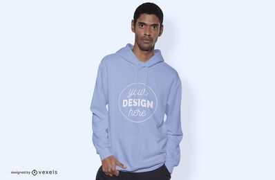 Model sweatshirt mockup design