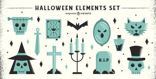 Halloween Flat Elements Pack