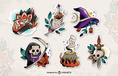 Halloween Old School Sticker Pack