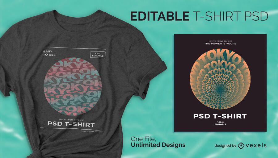Design de psd de camiseta circular