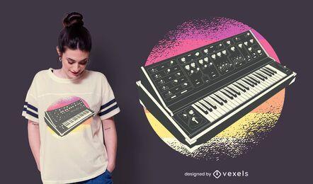 Design retrô de t-shirt sintetizador