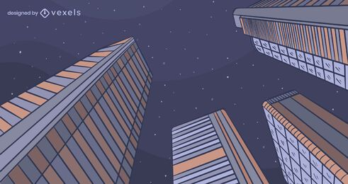Projeto do plano de fundo da cidade à noite