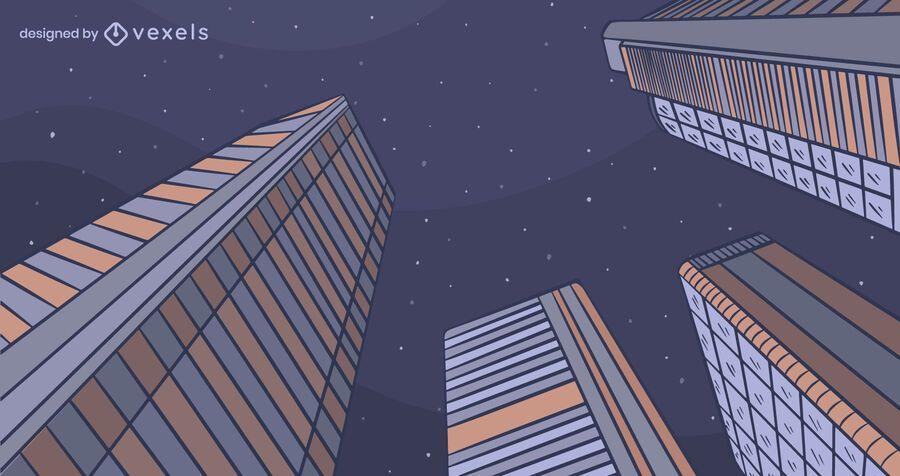 Diseño de fondo de la noche de la ciudad