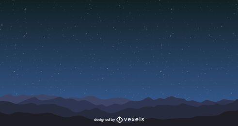 Projeto do fundo do céu à noite