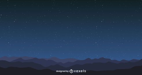 Sky at night background design