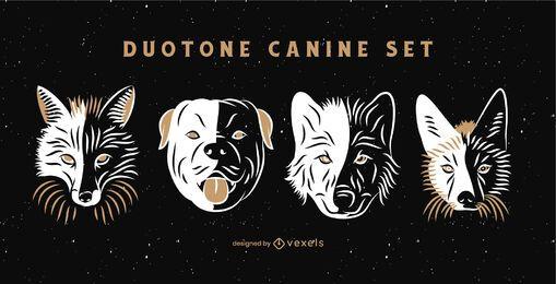 Duotone canine set