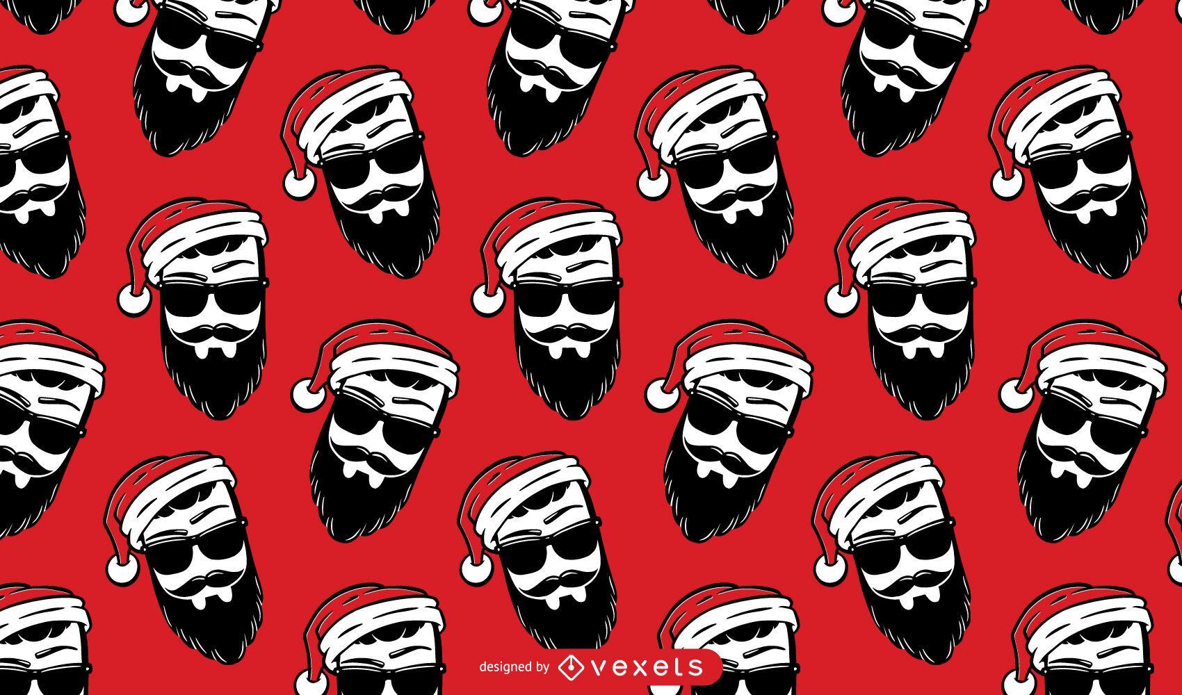 Hipster Santa Claus Musterdesign