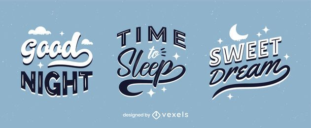 Night time lettering set