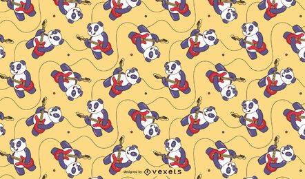 Panda guitarist pattern design