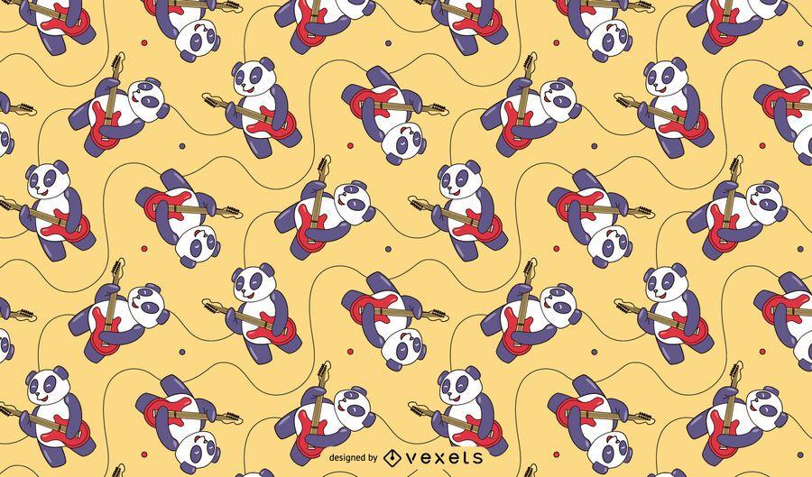 Panda guitarist pattern design
