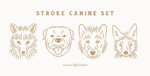 Stroke canine set