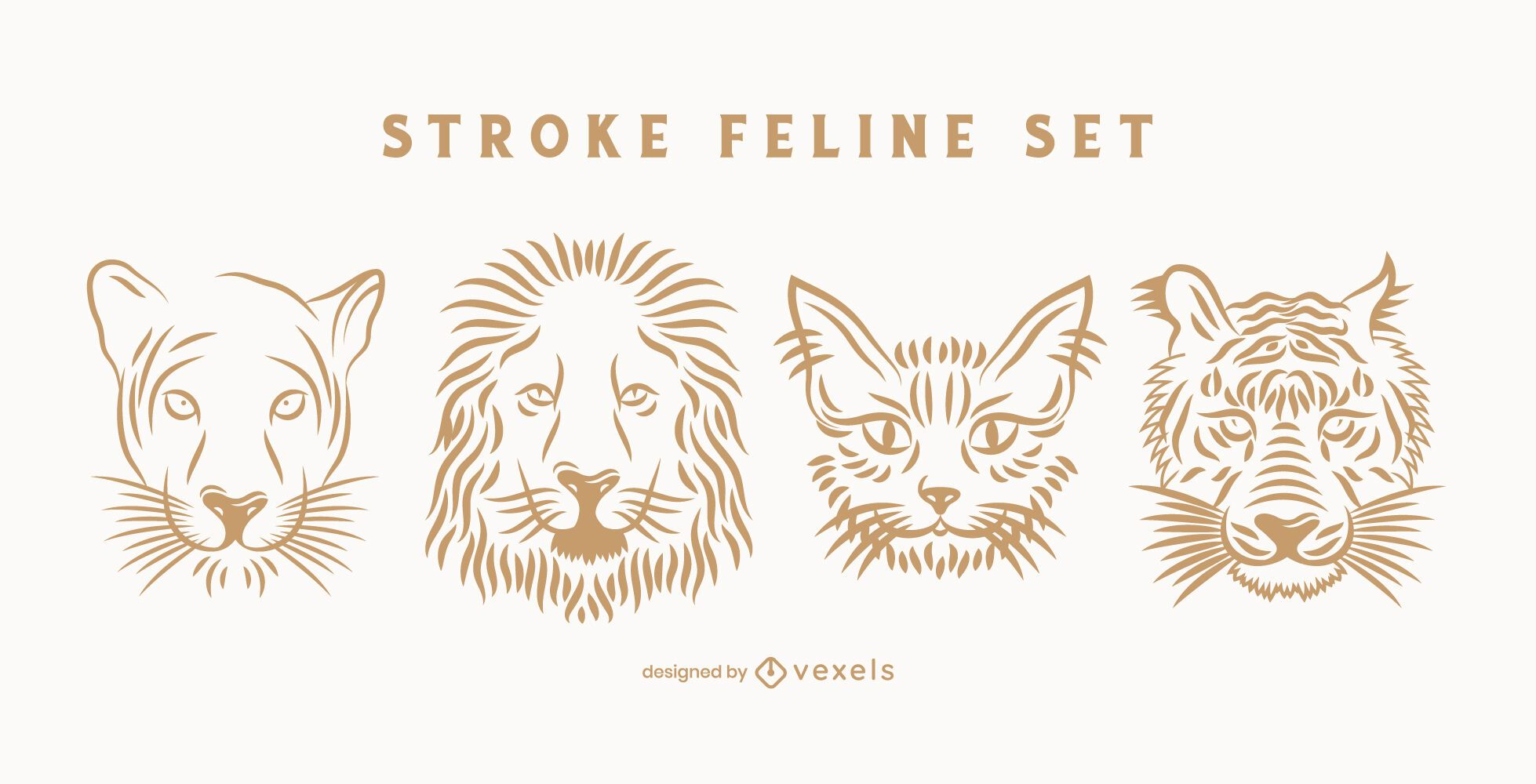 Stroke feline set
