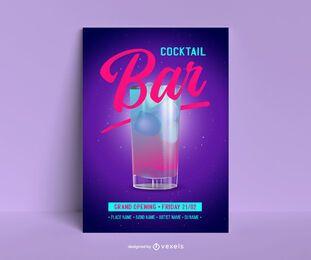 Neue Cocktailbar Poster Vorlage