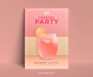 Cocktail party poster template