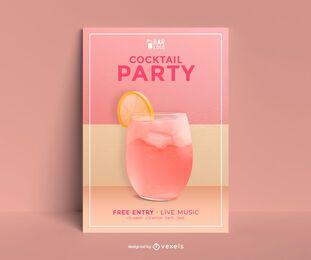 Cocktailpartyplakatschablone
