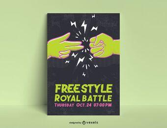 Freestyle Battle Poster Vorlage
